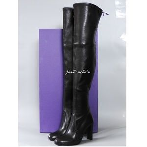 Stuart Weitzman Highland Leather Over-th-Knee Boot